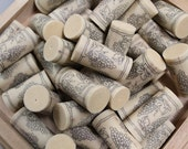 Craft Corks - Grapes Design - Synthetic Wine Corks - wine cork crafts - DIY supply - recycled corks - grape leaves