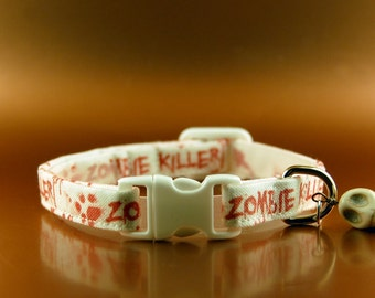 Zombie Killer Cat Collar Halloween