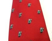 Vintage Santa Tie Christmas Tie Red Tie Holiday Tie Novelty Tie Brittany Tie Robert Talbot