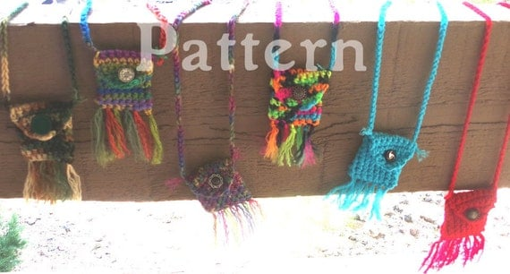Items similar to Crochet Pattern - Festival Pouch ...