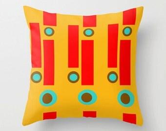 Modern Yellow Pillow, Mod Pillow, Mid Century Modern Pillow, Modern Throw Pillow, Cool Pillow, Modern Pillow, Modern Cushion