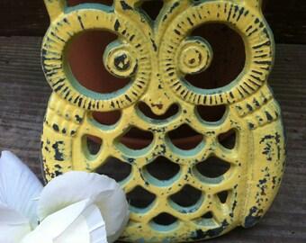 Owl Trivet, Cast Iron Owl Trivet