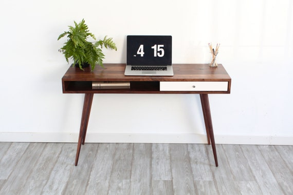 mid century modern sofa table console table laptop desk - Mid Century Modern Furniture Desk