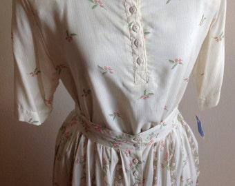 Vintage Michelle Stuart 2 Piece Skirt Set Size 6