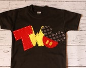 Mickey mouse birthday shirt, two, 2nd, girl boy t shirt,