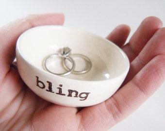 handmade ring holder GIFT FOR MOM handmade bling text with custom options for case engagement gift or wedding gift idea