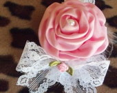 Baby Headband, Infant, Headband, Pink, Flower, Girls, Toddlers, Gift, Shower, Photo Prop, Baby, Accesories, Bows, Children, Kids, Trendy