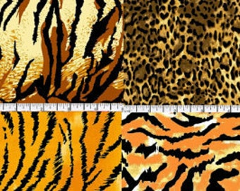 Wild Animal print 8 Fat Quarter bundles /Quilting /Craftings/Home decor/ Pillow covers/ Accessories