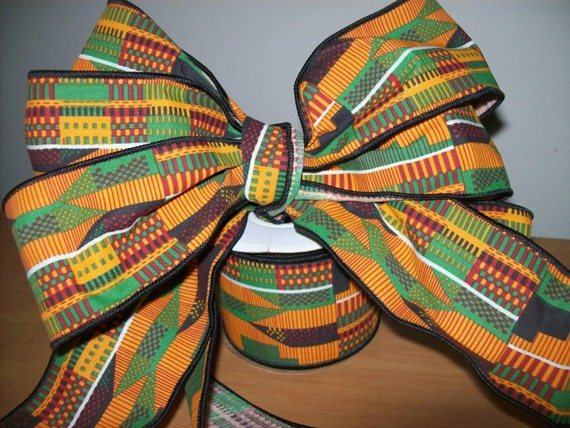 2 5 Inch Kente 2 Ribbon Roll African Ribbon Wholesale