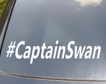 Captain Swan Hastag Car Sticker