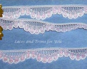 Pink Lace Trim 12 Yards Scalloped 5/8 inch wide Lot M03 Added Items Ship No Charge