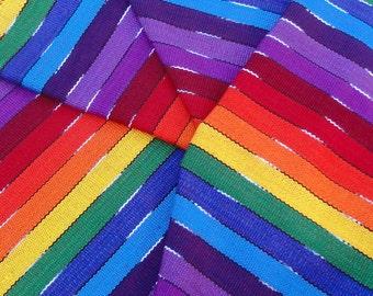Guatemalan Fabric Bright Rainbow Stripe