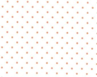 Moda Essential Dots - White Tangerine from Moda Fabrics