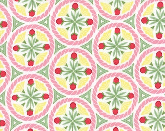 Pedal Pushers - Floral Crest in Cloud by Lauren & Jessi Jung for Moda Fabrics