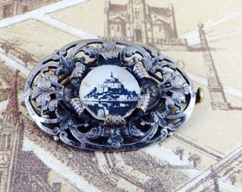 Vintage French Castle Brooch
