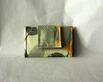Small Wallet / Card Wallet - Amy Butler Optic Blossom - Business Card Holder / Mini Wallet