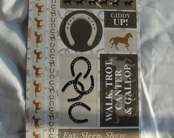 Horse cardstock stickers
