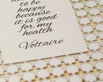 VOLTAIRE quote • papercut fine art - from the Living Collection