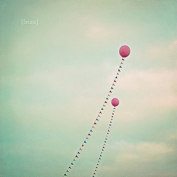 Balloon Photography - Carnival photography, Baby Nursery - Carnival Home Decor -Whimsical Balloons 8x8, 8x10 - Fine Art Photography