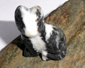 Zebra Jasper Gemstone Cat Spirit Animal Carving