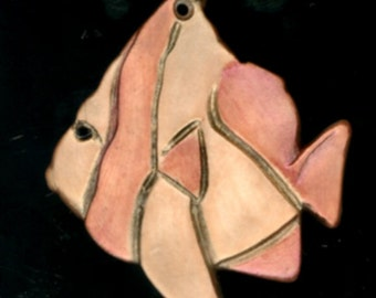 Porcelain Angelfish Pendant
