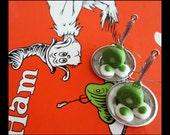 Green Eggs and Ham Earrings