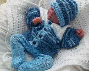 Knitting Pattern Baby Leggings Feet : Knitting Patterns & Hand Knits for Baby by PreciousNewbornKnits