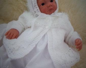 Baby Knitting Pattern  - Gabby Baby Girl Download PDF Knitting Pattern - Reborn Dolls Knitting Patterns
