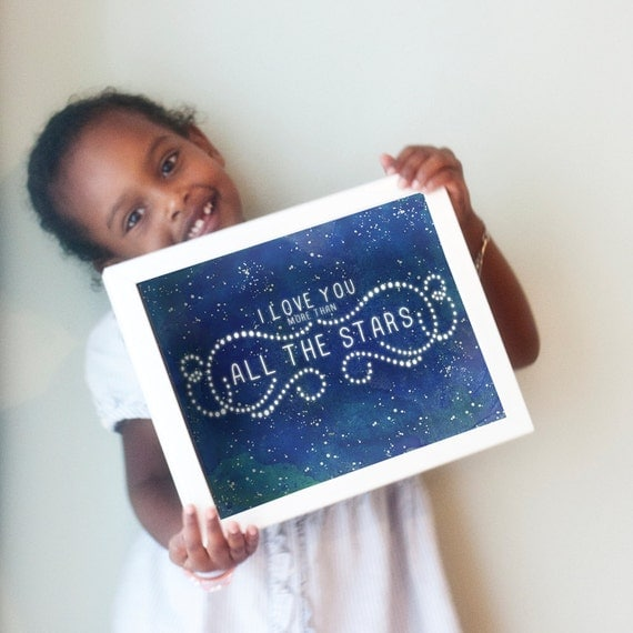 Printable 8x10 All The Stars design