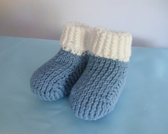 Knitted Baby Booties 3-6 months