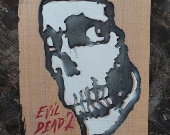 Evil Dead Wall Art, horror movie art, 3d horror art, wooden wall hanging, Evil Dead Logo