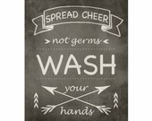 Bathroom Quotes, Modern Home Decor, Kids Wall Art, Bathroom Art, Bathroom Quotes, Chalkboard Art, Chalkboard Style, Wash Your Hands