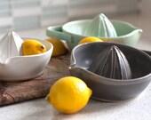 Pottery Citrus Juicer - Charcoal Gray Lemon Juicer