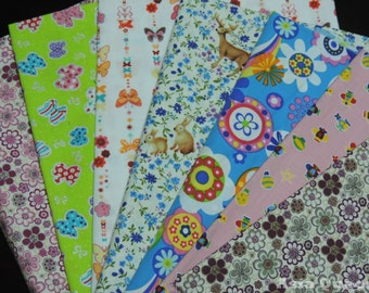 """USD6 - Scrap bundle - colorful flowers style for button cover - 7 pieces  (46cm x 27cm) - 35% off - flower - Check out with code """"5YEAR"""""""