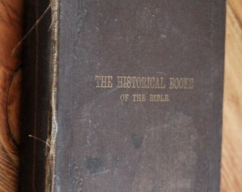Historical Books of the Bible 1884 Moses Milwaukee Judaism
