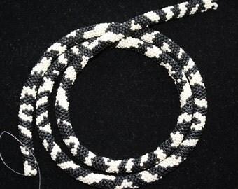 Seed Bead Zebra PATTERN for Tubular Peyote Stitch