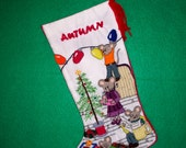 Mouse Crewel Christmas Stocking Needlework Kit - Cute Traditional Christmas Family Decor Keepsake