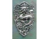Large Sterling Silver Celestial Dragon Pendant FAN001