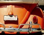 Orange Crush ,Beach Photography, Cottage, Coastal, VW, ,Summer, Wall Art