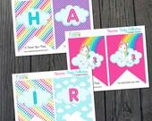 Unicorn Rainbow Birthday Banner / Unicorn Birthday / Unicorn Party / Unicorn Rainbow Printables / Unicorn Printables / INSTANT DOWNLOAD