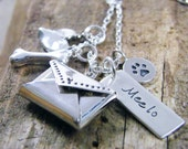 pet rembrance necklace sterling silver personalized necklace