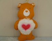 Vintage Care Bear Tenderheart Bear Cloth Doll Pillow