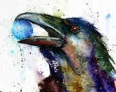 RAVEN Watercolor Print by Dean Crouser