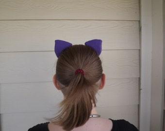 Royal Purple Clip In Kitty Ears