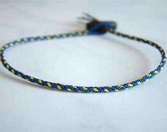 THiN - BOSTON - Woven Surfer Style Cord Bracelet - Sweatproof - Durable / Hand Knotted by fig&fig