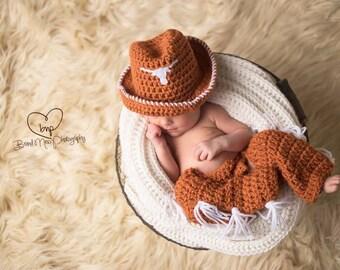 Newborn UT Longhorn Set