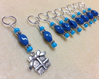 Snag Free Stitch Markers, Gift for Knitters,  Beaded Knitting stitch marker set, Crochet Markers, Tools, Present