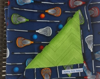 Lacrosse blanket-blue snuggle or toddler