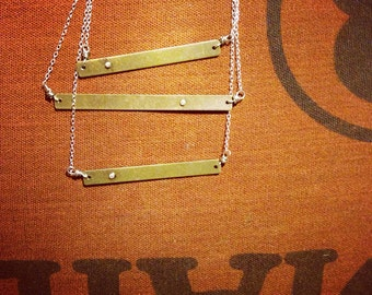 Layered Rivet Necklace