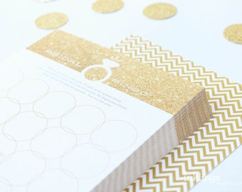 12 Bridal Bingo Cards  //  Bridal Shower Game, Party Game, Bridal Shower Activity, Bachelorette Party Game // Faux Gold Glitter